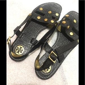 Tory Burch black Leather Sandals Tory Burch